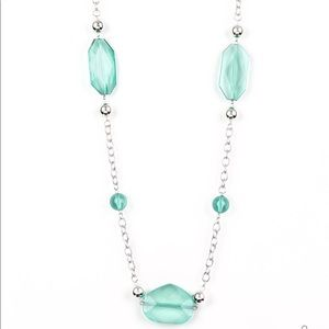 Crystal Charm Green Necklace